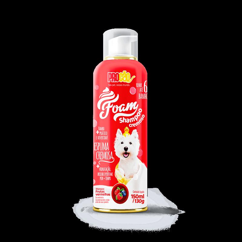 foam - shampo cremoso para cachorro